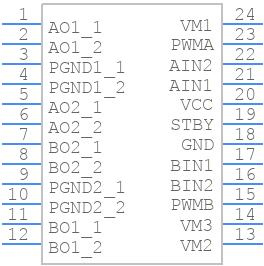 TB6612FNG,C,8,EL - Toshiba - PCB symbol