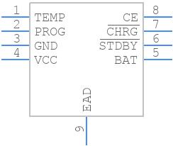 TP4056X - Nanjing Extension Microelectronics - PCB symbol