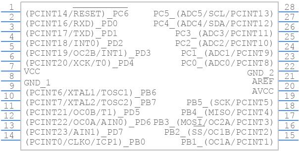 A000048 - Arduino - PCB symbol
