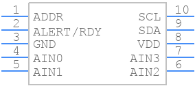 ADS1115IDGSR - Texas Instruments - PCB symbol