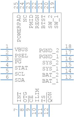 BQ25896RTWT - Texas Instruments - PCB symbol