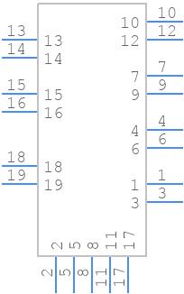 47151-0001 - Molex - PCB symbol