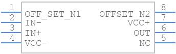 OP07CD - Texas Instruments - PCB symbol