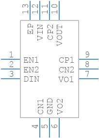 PAM8904EJPR - Diodes Inc. - PCB symbol
