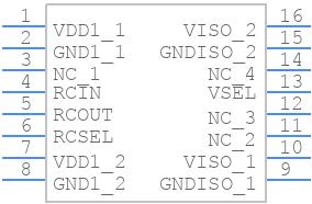 ADUM6000ARWZ - Analog Devices - PCB symbol