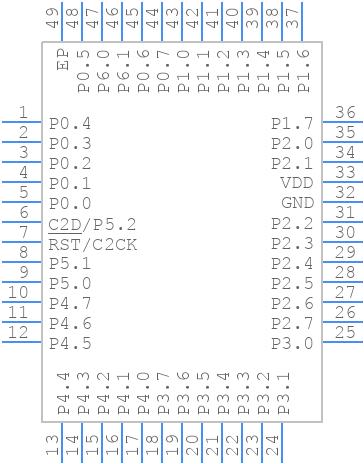 C8051F970-A-GM - Silicon Labs - PCB symbol