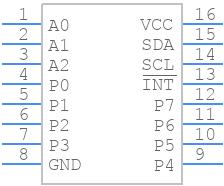 TCA9534APWR - Texas Instruments - PCB symbol