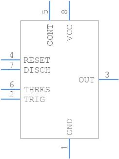 NE555DG4 - Texas Instruments - PCB symbol