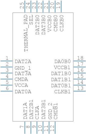 TXS02612RTWR - Texas Instruments - PCB symbol