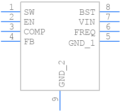 MP1584EN-LF - Monolithic Power Systems (MPS) - PCB symbol