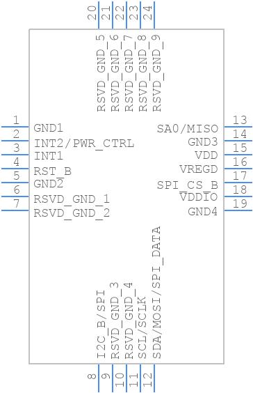 FXAS21002CQR1 - Nexperia - PCB Footprint & Symbol Download