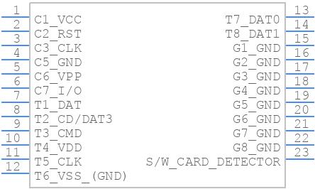 104239-1430 - Molex - PCB symbol