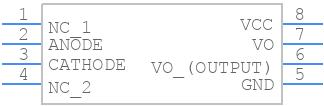 TLP250(F) - Toshiba - PCB symbol