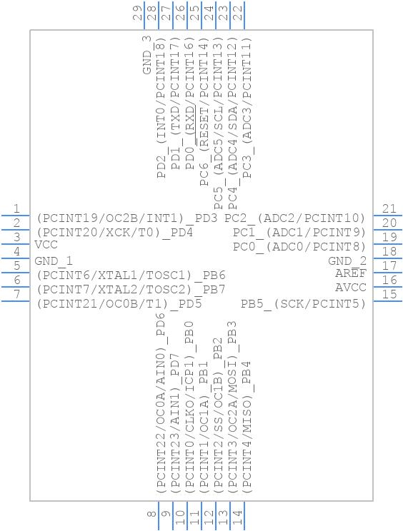ATMEGA328P-MMHR - Microchip - PCB Footprint & Symbol Download
