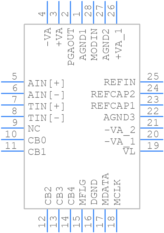 AD1555APZ - Analog Devices - PCB symbol