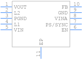 TPS63031DSKT - Texas Instruments - PCB symbol