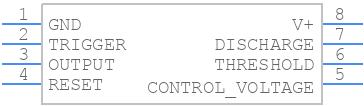 LM555CMMX/NOPB - Texas Instruments - PCB symbol
