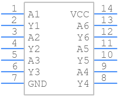 MC74LVX50DG - ON Semiconductor - PCB symbol