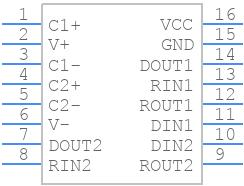 MAX3232ECD - Texas Instruments - PCB symbol