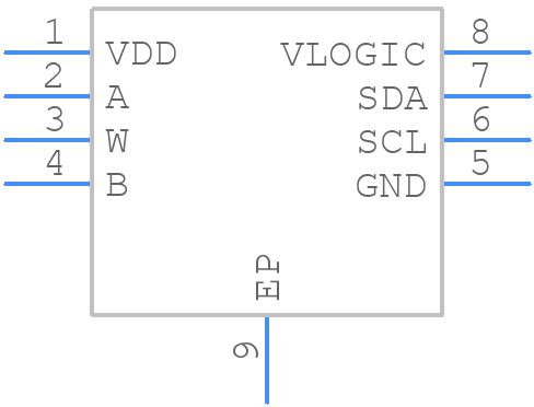 AD5112BCPZ5-500R7 - Analog Devices - PCB symbol