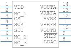 MCP4922-E/P - Microchip - PCB symbol