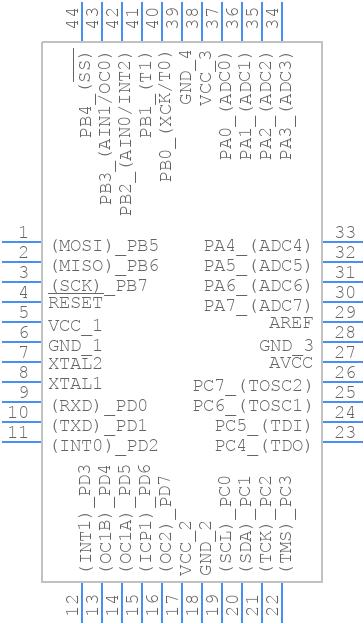 ATMEGA32-16AU - Microchip - PCB symbol