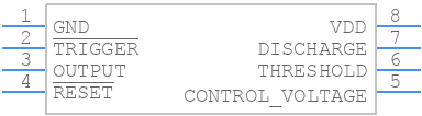 ICM7555CBAZ - Renesas Electronics - PCB symbol