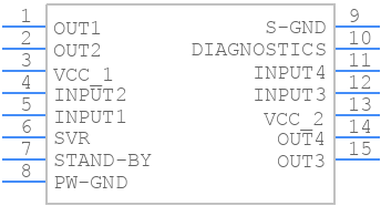 E-TDA7377 - STMicroelectronics - PCB symbol