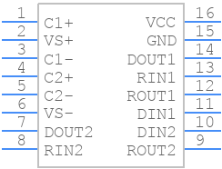MAX232EIDR - Texas Instruments - PCB symbol