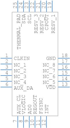 MPU-6050 - InvenSense Inc. - PCB symbol