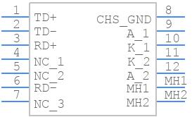 HR911105A - HANRUN(Zhongshan HanRun Elec) - PCB symbol