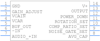 SSM2166SZ-REEL7 - Analog Devices - PCB symbol