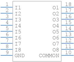 ULN2803AFWG,C,EL - Toshiba - PCB symbol