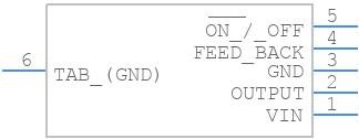 LM2596SX-5.0/NOPB - Texas Instruments - PCB symbol