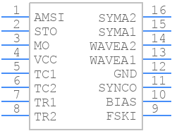 XR2206P-F - EXAR - PCB symbol