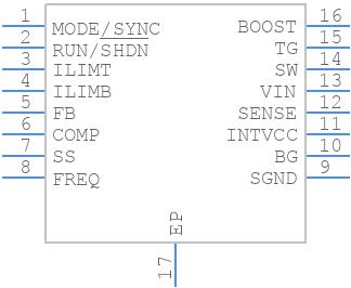 LTC3775EMSE#PBF - Linear Technology - PCB symbol