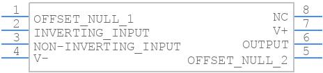 LM741CN - Texas Instruments - PCB symbol