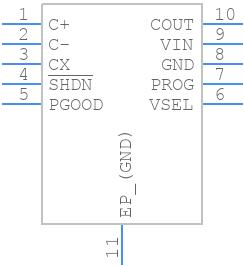 LTC3225EDDB#TRMPBF - Linear Technology - PCB symbol