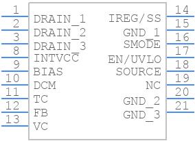 LT8315 - Linear Technology - PCB symbol