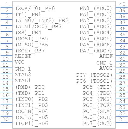 ATMEGA32A-PU - Microchip - PCB symbol