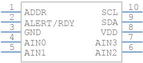 ADS1115BQDGSRQ1 - Texas Instruments - PCB symbol