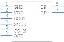 TLI4970-D025T4 - Infineon - PCB symbol