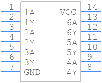 74HC14D,653 - Nexperia - PCB symbol
