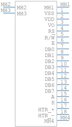 LCR-U01602DSF/AWH - Lumex - PCB symbol