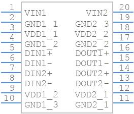 ADN4650BRSZ - Analog Devices - PCB symbol