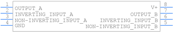 LM358N/NOPB - Texas Instruments - PCB symbol