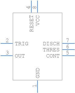 NE555PG4 - Texas Instruments - PCB symbol