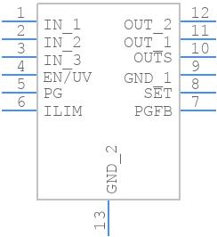 LT3045EMSE#PBF - Linear Technology - PCB symbol