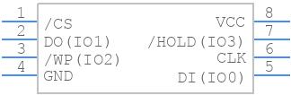 W25Q80DVSSIG - Winbond - PCB symbol