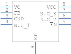 BD33IC0WEFJ-E2 - ROHM Semiconductor - PCB symbol